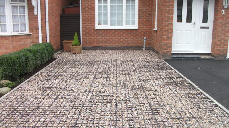 Plastic gravel grids the solution for many problems: